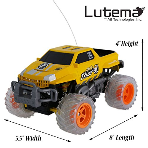 Lutema Extreme Pickup 4CH Remote Control Truck, Yellow (Long Range Remote Control Truck compare prices)