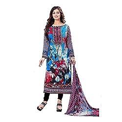 Women's Pure Lawn Cotton Dress Material Unstitched (has_1615A_Multicolor)