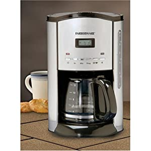 Amazon.com: Farberware FCM12SS 12-Cup Coffeemaker, Stainless/Black: Drip Coffeemakers: Kitchen ...