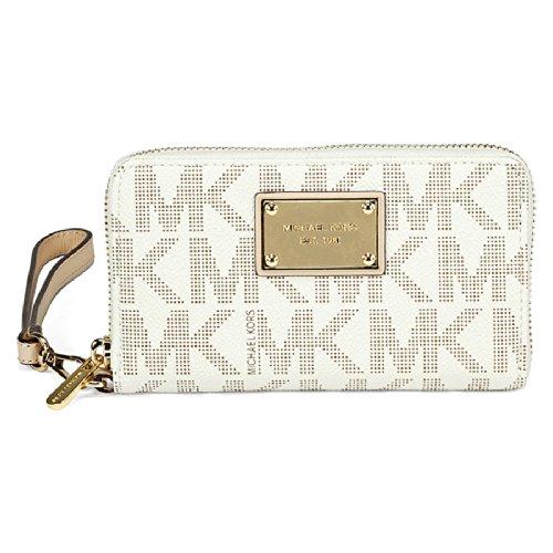 MICHAEL Michael KorsMichael Kors Large Multifunction Vanilla Logo Phone Case