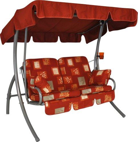 Angerer-Comfort-Balkon-Hollywoodschaukel-Salerno-Rot-2-Sitzer