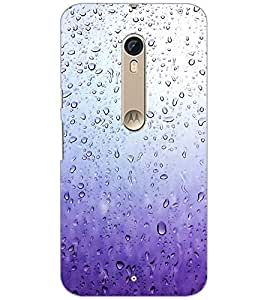 PrintDhaba Droplets D-2116 Back Case Cover for MOTOROLA MOTO X STYLE (Multi-Coloured)