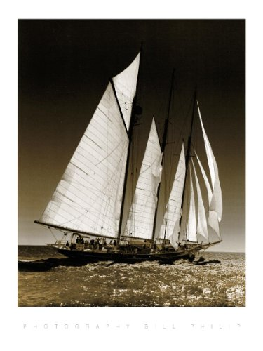 Sailing at Cowes 2, Poster 40 x 50 cm