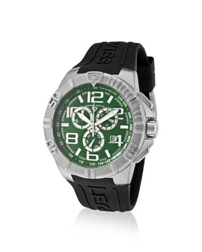 Swiss Legend Men's 40118-08 Super Shield Chronograph Green Dial Watch