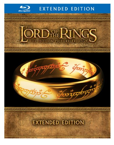 51wp1eHVwdL The Lord of the Rings: The Motion Picture Trilogy (The Fellowship of the Ring / The Two Towers / The Return of the King Extended Editions)  [Blu ray]