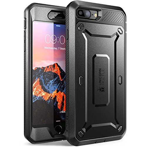 iPhone 7 Plus Case, SUPCASE Full-body Rugged Holster Case with Built-in Screen Protector for Apple iPhone 7 Plus (2016 Release), Unicorn Beetle PRO Series - Retail Package (Black/Black) (Unicorn Beetle Pro Series compare prices)