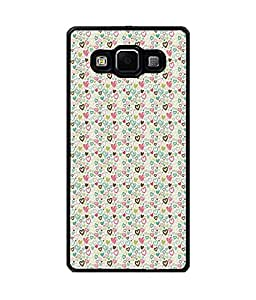 Fuson Premium Valentines Gift Metal Printed with Hard Plastic Back Case Cover for Samsung Galaxy E5