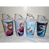 Tupperware Disney's Frozen Tumbler Set of 4 16oz Elsa, Anna, Olaf