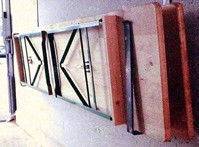 Wand Halterung Aufhängung aus Metall für 2 Bierzelt Garnituren Tische Bänke Halter von non auf Gartenmöbel von Du und Dein Garten