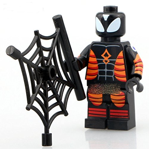 LipstickIndy® 1PIECE 2016 Brand New Spiderman Insulated Minifigure Superhero Action Figure with weapons