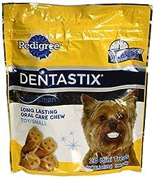 Pedigree Dentastix Deep Clean Original, Toy/Small Dogs, 20 Mini Treats, 11.5 Oz