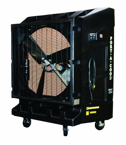 Port-A-Cool PAC2K482S 48-Inch Portable Evaporative Cooling Unit, 20000 CFM, 4000 Square Foot Cooling Capacity, 2-Speed, Black