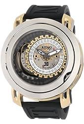 Ritmo Mundo Men's 202 SS YG Persepolis Dual-Time Exhibition Automatic Watch