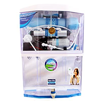 Aqua Ultra A400 14Stage15Lph 15L storage Ro+Uv+Uf+Mineral+Tds Controller Water Purifier (Transparant)