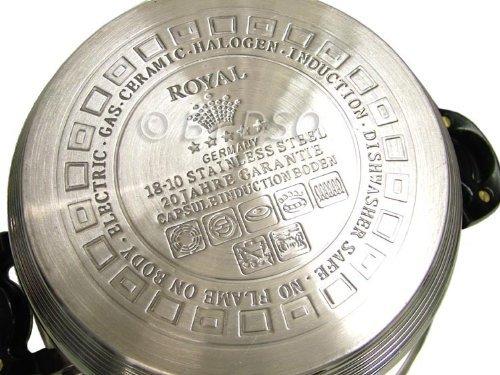 Royal Superior Set di Pentole 17 Pezzi per Cucine a Induzione con Effetto Serpentina - Nero