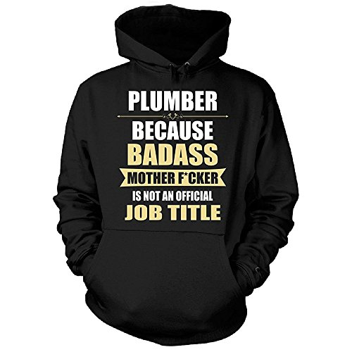 Gift For Badass Plumber Velveteen Heavy Blend Pullover Adult Unisex Hoodie Sweatshirt (Plumbers In Seattle compare prices)
