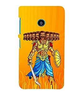 Illustration Of Ravana 3D Hard Polycarbonate Designer Back Case Cover for Nokia Lumia 530 :: Microsoft Lumia 530