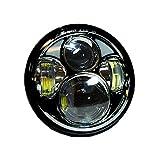 iimono117 LEDヘッドライト 5.6インチ 50W ホワイト / ヘッドライトキット ハーレーダビッドソン ジープラングラー ジープ用 オートバイ 自動車 車 LEDライト 明るい 超高輝度 LEDヘッド