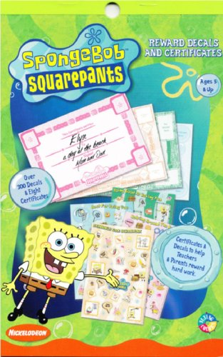 SpongeBob SquarePants Reward Certificates and Stickers