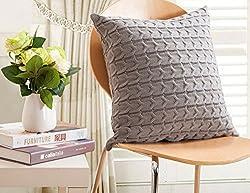 iSunShine Cotton Knitted Decorative Cushion Cover(17.5*17.5