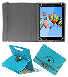 ACM ROTATING 360° LEATHER FLIP CASE FOR DIGIFLIP PRO XT811 TABLET STAND COVER HOLDER GREENISH BLUE