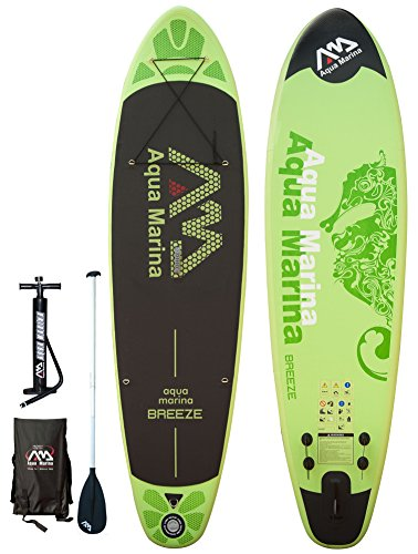 ISUP Aqua Marina Breeze - Stand Up Paddle Board inkl. Pumpe, Alu-Paddel + Tasche
