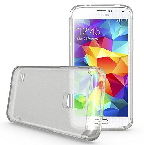 Tudia Ultra Slim Lite Tpu Bumper Protective Case For Samsung Galaxy S5 Mini ** For S5 Mini Version Only ** (Clear)