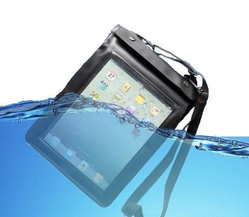 iPad~新iPad.Xperia防水ケース カバー 黒(白あり) ステレオイヤホンジャックショルダーベルト付スタイラスタッチペンおまけ