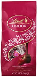 Lindt LINDOR Raspberry Dark Chocolate Truffles ,9.3  Ounce