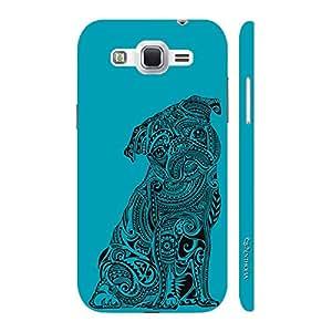 Enthopia Designer Hardshell Case Dog Tattoo Back Cover for Samsung Galaxy J2 (2016)