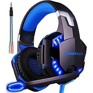 ARKARTECH G2000 ゲーミング ヘッドセット マイク付き ブルー G2000BLUE