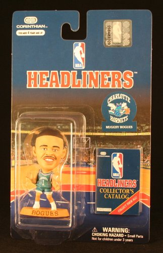 MUGGSY BOGUES / CHARLOTTE HORNETS * 3 INCH * 1997 NBA Headliners Basketball Collector Figure - 1