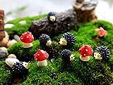 Ginsco 9pcs Miniature Ornament Hedgehog & Mushroom Set for Dollhouse Decor Fairy Garden