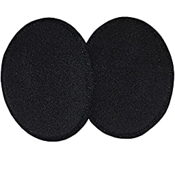 Ear Mitts Fleece Bandless Ear Muffs, Black, Regular