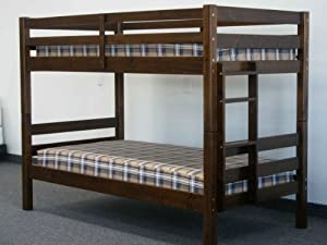 Bunk Bed - Twin over Twin Ranch Walnut from Bedz King