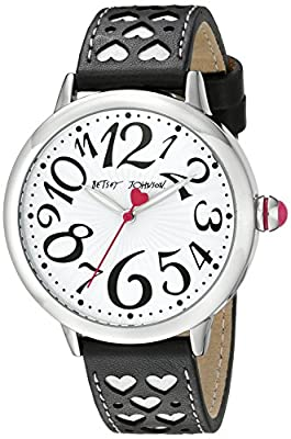 Betsey Johnson Women's BJ00540-01 Analog Display Quartz Black Watch from Betsey Johnson Watches
