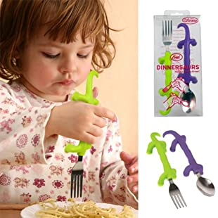 Dinnersaurs: Kids Fork and Spoon Utensil Set