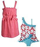 Wippette Baby Girls One Piece Swimsuit and Terry Sleeveless Coverup Beach Set