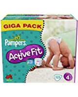 Pampers - 81337211 - Active Fit Couches - Taille 4 - Maxi 7-18 Kg - Gigapack x 123