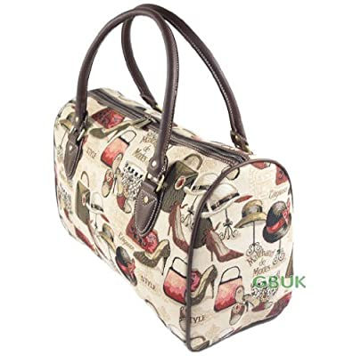 Tapestry Weekend Holdall/Hand Luggage/Travel Bag (medium) French Boutique - Gobelin Style