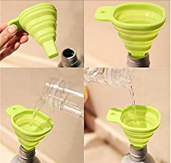 Electomania Collapsible and Easy to Store Silicone Funnel for Kitchen