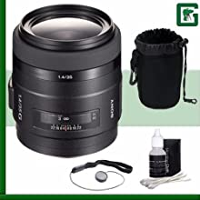 Sony 35mm f14G Wide Angle Prime Lens Green39s Camera Bundle 12