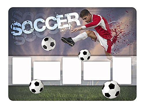 wandsticker fotorahmen bilderrahmen fu ball soccer deko f r kinderzimmer 78x57cm. Black Bedroom Furniture Sets. Home Design Ideas