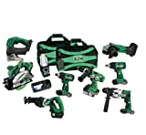 Hitachi KC18DY9L 18-Volt Lithium-Ion 9-Tool Combo Kit