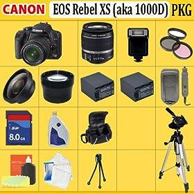 Canon EOS Rebel XS (a.k.a. 1000D) SLR Digital Camera Kit (Black)