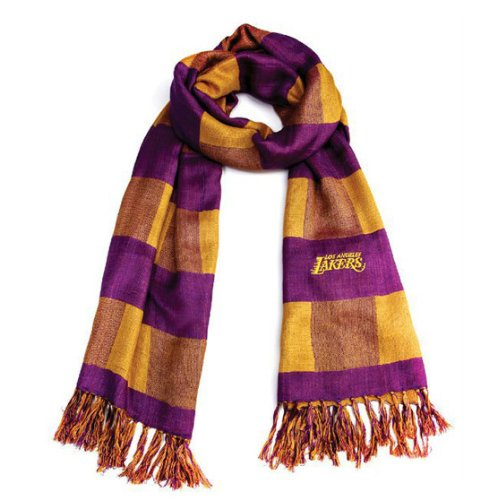 NBA Los Angeles Lakers  Scarf (Purple/Gold) at Amazon.com