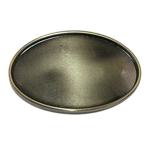 CTM® Unisex Blank Oval Belt Buckle, Bronze