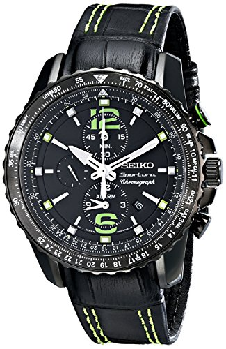 sportura-stainless-steel-case-alarm-chronograph-black-dial-leather-strap