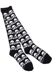 Loungefly Black & White Skull Socks (Blk/Wht)