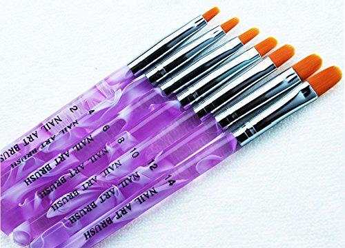 ジェル ネイル ブラシ UV用 平筆 ブラシ 7本 セット プロ仕様